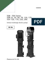 ITT Lowara Pumps Tdbtdvxxxx-bx