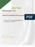 Et HR Sample Test