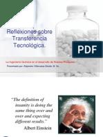 Reflexiones sobre Transferencia Tecnológica,