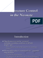 Temp Control in Neonate