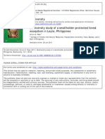 Biodiversity Study of a Smallholder-protected Forest Ecosystem