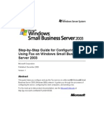 SBS 2003-Step-By-Step Guide for Configuring and Using Fax on Windows Small Business Server 2003