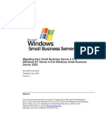 SBS 2003-Migrating From Small Business Server 4.5 or Windows NT Server 4