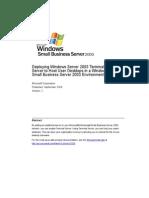 SBS 2003-Deploying Windows Server 2003 Terminal Server