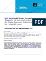 Copyright Infringement Online the Case of the Digital Economy Act Judicial Review in the United Kingdom (LSE RO)