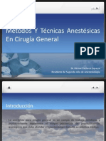Metodos y Tecnicas Anestesicas Cirugia General