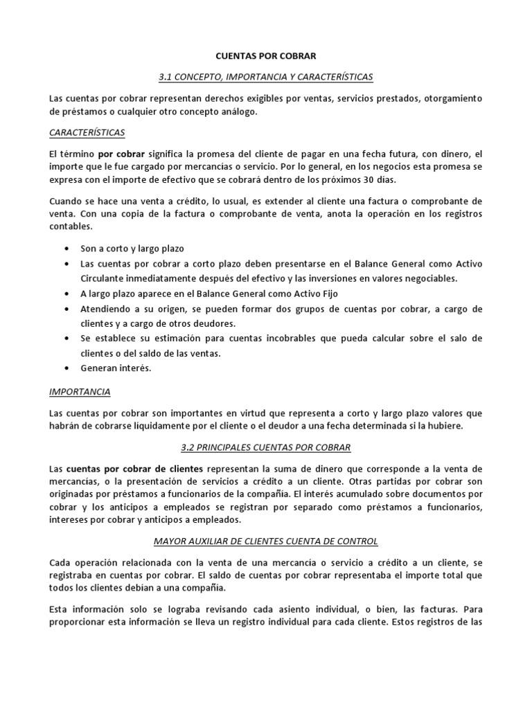 Increíble Cuentas Por Cobrar Reanudar Muestra Friso - Ejemplo De ...