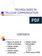 Access Technologies in Cellular Communication