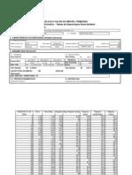 Tabela de Cálculo Método Evolutivo - Hoss Reideck