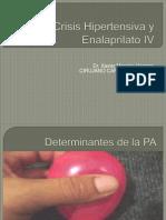 Crisis Hipertensiva y Enalaprilato IV