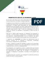 MANIFIESTO DÍA DE LA DIGNIDAD LGBTI