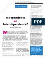 Independence or Interdependence?