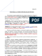 GUIA PARA LA CONFECCIÓN DE UN LEGAJO TÉCNICO