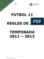 Reglament Futbol 11 - 2011 BO