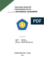 SISTEM INFORMASI AKADEMIK-10185101