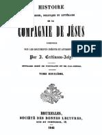 Histoire Religieuse Politique Et Litter a Ire de La Compagnie de Jesus (Tome 2)