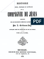 Histoire Religieuse Politique Et Litter a Ire de La Compagnie de Jesus (Tome 4)