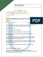 Guia Reconocimiento Del Curso Toxicologia 2011-II