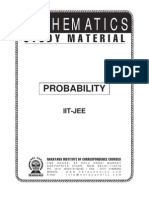 IIT Class XII Maths Probability