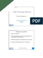 Teknologi Organisasi