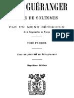 Dom Gueranger Abbe de Solesmes (Tome 1)