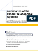Summary of Hindu Philosophical Systems