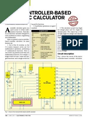 Micro Controller Based Scientific Calculator | Subroutine