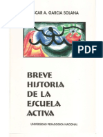 Breve Historia de La Escuela Activa