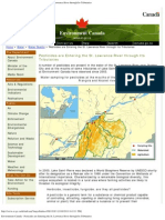 Environment Canada - Pesticides Are Entering the St. Lawrence River Through