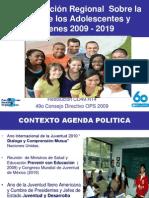 Plan de Acción Regional  Sobre la Salud de los Adolescentes y Jóvenes 2009 - 2019 M.Maddaleno (1)