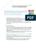 10 Top Tips for the Speaking Module 2[HGA][1]