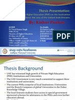 Thesis Presentation 1