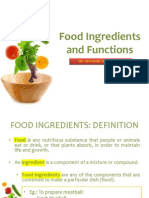 Food Ingredients and Functions
