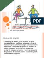 Análisis equidad de géneros y prevención de violencia