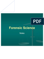 forensic science notes