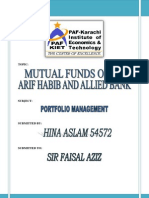 MUTUAL FUNDS Final Assignment