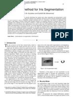 A Hybrid method for Iris Segmentation
