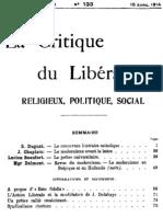 La Critique du Libéralisme (Tome 12)