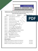 Syllabus for Internal Exam