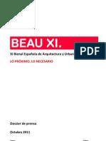 Dossier Prensa XI BEAU 111019