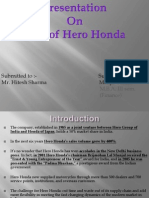 MIS of Hero Honda