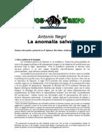 Negri, Antonio - La Anomalia Salvaje