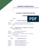 Loi Sur La Fonction Publique