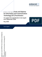 267928 BTEC First Certificate and Diploma for ICT Practitioners Tutor Support