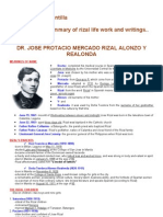 Rizal Life Works Writings Summary 1