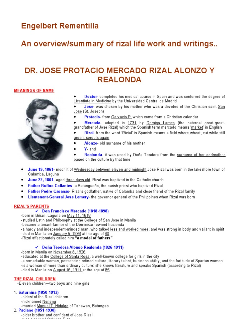 letter to his parents from san francisco by jose rizal
