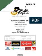 Stage 12 Angeles-Manila via NLEX
