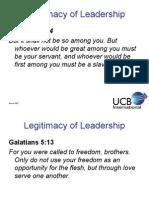 ACB Legitimacy of Leadership