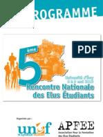 programme 5ème rencontre national des élus