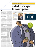 La impunidad hace que persista la corrupción